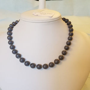 "4/$30 NWT Handmade ""Pearl"" Necklace, 18"" Dark Gray"
